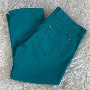 Gap low rise Capri cropped teal jeans